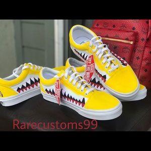 ed8b64dd46f5 Vans Shoes - Yellow bape old skool vans customs